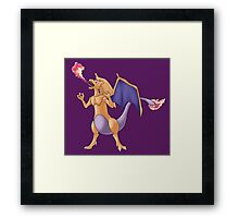 PokeFusion: Mewzard Framed Print