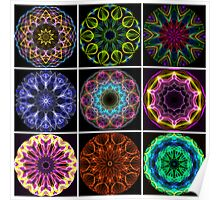 Flame Kaleidoscopes Poster