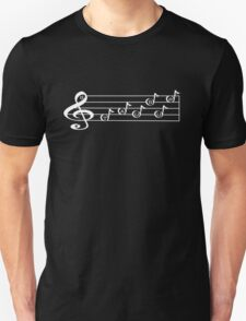 TAURUS - Words in Music - V-Note Creations (white text) Unisex T-Shirt