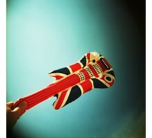 Rock 'n' Roll Star with an air guitar Photographic Print