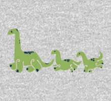 Lil Green Dino parade One Piece - Long Sleeve