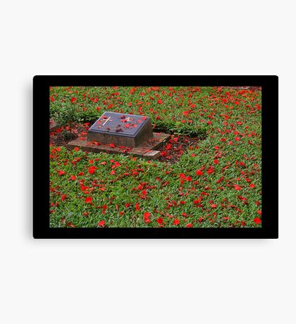 Lest we forget . . . .  Canvas Print