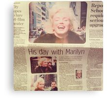 His day with Marilyn film Metal Print