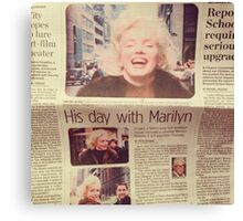 His day with Marilyn film Canvas Print