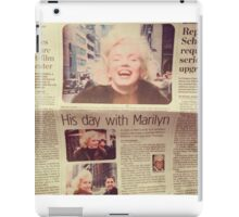 His day with Marilyn film iPad Case/Skin