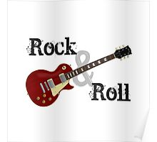 Rock & Roll Guitar Poster