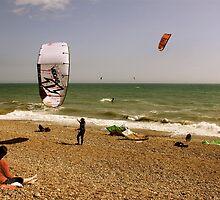 Kite Surfing - Brighton by Matthew Floyd