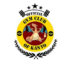GYM CLUB CHARIZARD Photographic Print