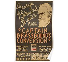WPA United States Government Work Project Administration Poster 0916 George Bernard Shaw Captain Brassbound's Conversion Poster