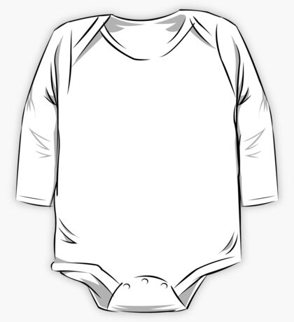 White Writer's Quill One Piece - Long Sleeve