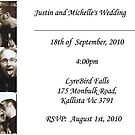 save the date cards for my wedding by Michelle Whelan