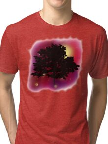 Trees Shadow Against the Night Sky Tri-blend T-Shirt
