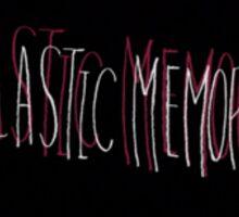 Plastic Memories Logo, White-Red Sticker
