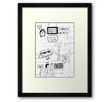 Ion TV or High on TV? Framed Print