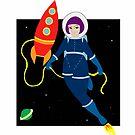 Space Girl by lizbee
