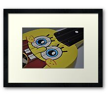Spongebob Guitar Framed Print