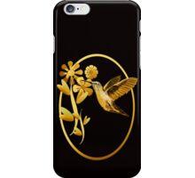 Gold Hummingbird Framed iPhone Case/Skin
