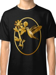 Gold Hummingbird Framed Classic T-Shirt