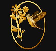 Gold Hummingbird Framed Womens Fitted T-Shirt