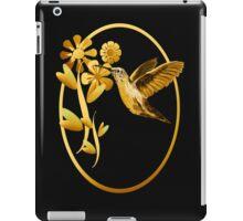 Gold Hummingbird Framed iPad Case/Skin