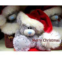 Santa Bear Merry Christmas Photographic Print