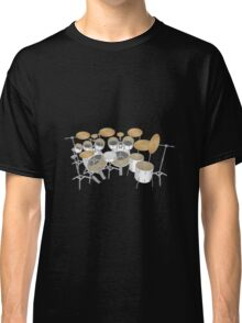 White Drum Kit Classic T-Shirt