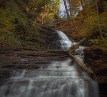 Huron Falls (in Autumn) by Aaron Campbell