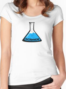 Science Beaker Blue Women's Fitted Scoop T-Shirt