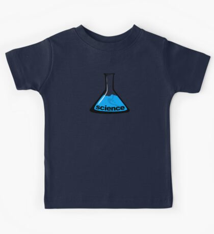 Science Beaker Blue Kids Tee