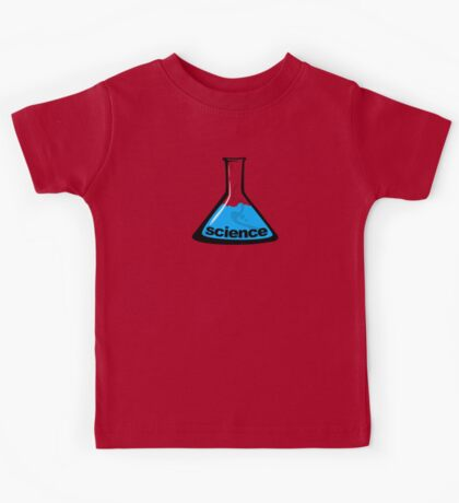 Science Beaker Blue Kids Tee