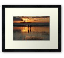 Reflective Silhouette Framed Print