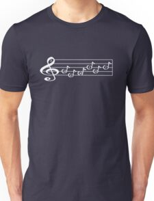 GEMINI - Words in Music - V-Note Creations (white text) T-Shirt