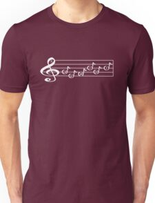 GEMINI - Words in Music - V-Note Creations (white text) Unisex T-Shirt