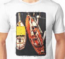 Moored yachts Unisex T-Shirt