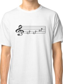 LEO - Words in Music - V-Note Creations (white text) Classic T-Shirt