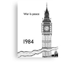 "George Orwell - 1984 - ""War is Peace"" Canvas Print"