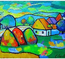 Village after rain by Ciprian  Chirita