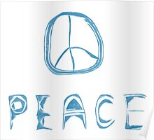 Indie Blue Peace Poster