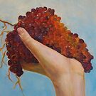 Hand full of healthy Vintage Grapes by Racheli