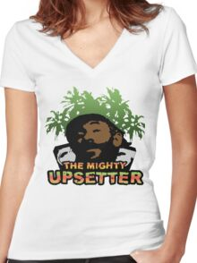 Lee Scratch Perry Reggae Dub Women's Fitted V-Neck T-Shirt