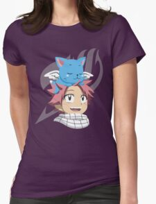 Natsu and Happy Womens Fitted T-Shirt