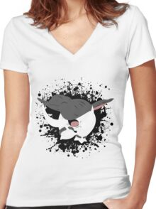 Donphan Splatter Women's Fitted V-Neck T-Shirt