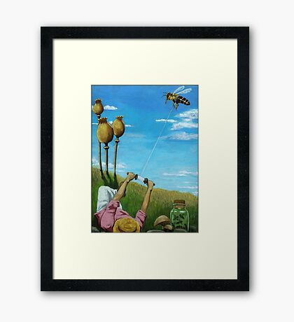 Flight of the Bumblebee - contemporary oil painting Framed Print