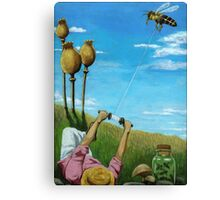 Flight of the Bumblebee - contemporary oil painting Canvas Print