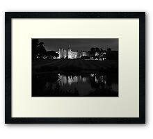 low light castle duotone Framed Print