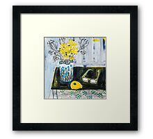 flowers and fabric 4 Framed Print