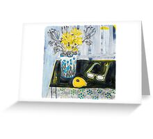 flowers and fabric 4 Greeting Card