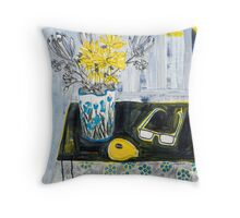 flowers and fabric 4 Throw Pillow