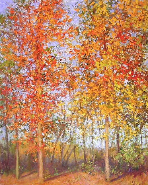 Fall trees #2 by Julia Lesnichy