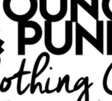 "YOUNG&PUNK Clothing Co. Logo - ""Stick-er it to the Man"" Collection - Exclusively on Redbubble Sticker"